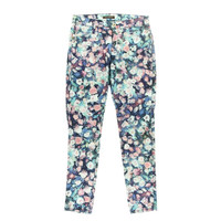 James Jeans Womens Twiggy Twill Floral Print Leggings