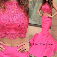 Prom Dress, Mermaid Prom Dress 2016, Mermaid Evening Dresses, Pink Women Dresses