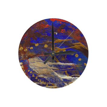Sunset Blvd Round Wallclock from Zazzle.com