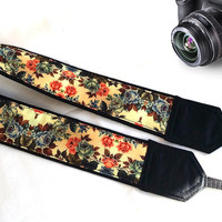 Women Camera Strap. Padded Camera Strap. Flowers Camera Strap. Gifts For Her. Fashion Accessories