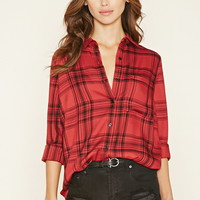 Button-Front Plaid Shirt | Forever 21 - 2000160500