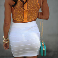 Banded With Love Skirt: White   Hope's