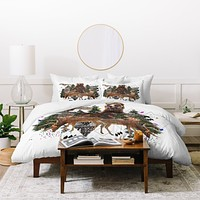 Kris Tate Young Spirits In The Woods Duvet Cover