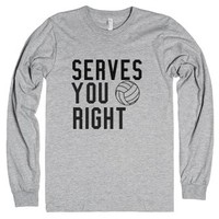 Serves You Right-Unisex Heather Grey T-Shirt
