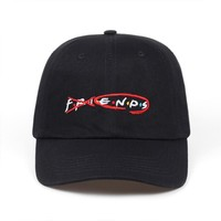 Trendy Winter Jacket 2018 brand friends Embroidered dad hat Baseball cap USA fashion letter polo style adjustable golf cap hats bone AT_92_12