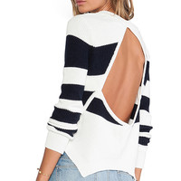 Lovers + Friends Bright Sea Sweater in Navy