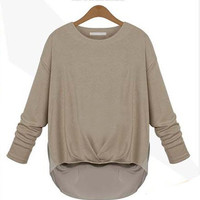High-Low Long Sleeve Top