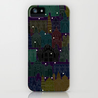 castle avenue night iPhone & iPod Case by Sharon Turner