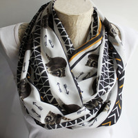 Raccoon Scarf Animal Scarf Boho Handmade Trending Items from Son from Daughter Christmas Gifts