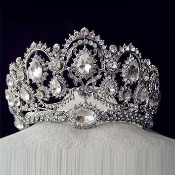 Hot European Designs Vintage Peacock Crystal Tiara Bridal Hair Accessories Wedding Quinceanera Rhinestone Tiaras Crowns Pageant