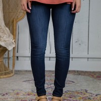 Bridges Mid Rise Jeans, Dark