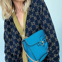 GUCCI Vintage gold thread knitted cardigan
