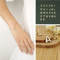 Awesome Shiny Gift Stylish Hot Sale New Arrival Great Deal Alphabet Simple Design Bracelet [6586374791]