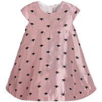 Baby Girls Pink Satin 'Eye' Dress