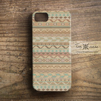 Aztec iPhone 5 case - Tribal iPhone 4 case, Navajo iPhone 4s case, High quality 3D printing, Gift for men - brown aztec pattern (c43)