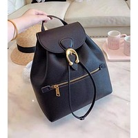 COACH High Quality Fashion Woman Leather Travel Bookbag Shoulder Bag Backpack Black