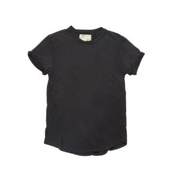 Current/Elliott The Rolled Sleeve Crew in Black Beauty | The Dreslyn
