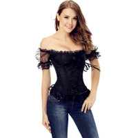 Sexy Lace Off-shoulder Corset