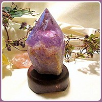 """Overcome "" Amethyst Point Crystal Lamp"