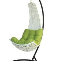 Birgitte - Balance Curve Porch Swing Chair - Model - DL021WHT: Home & Kitchen