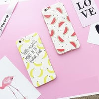 Banana and watermelon mobile phone case for iPhone7 7S 7 7Splus  iphone 5 5s SE 6 6s 6 plus 6s plus + Nice gift box 71501