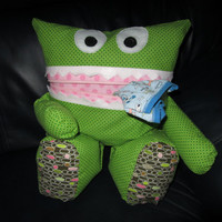Pink Green Brown Pajama Eater by SewInTheMeantime on Etsy
