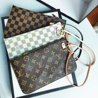 LV Fashion Women Louis Vuitton Coin purse Wrist Bag Cute Wallet Morogram