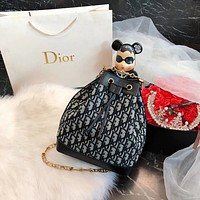 Dior Women Shopping Fashion Leather Chain Satchel Shoulder Bag Crossbody