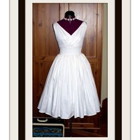 Vintage Wedding Dress with Surplice Bodice and by porshesplace