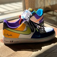 Nike AF1 Air Force One two-color low-top sneakers student sneakers men and women all-round running shoes