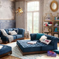 Cushy Roll Arm Sectional Set