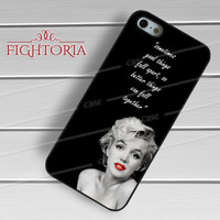 Marilyn Monroe Quotes on black - zAzA for  iPhone 6S case, iPhone 5s case, iPhone 6 case, iPhone 4S, Samsung S6 Edge