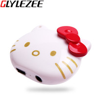 Glylezee Hello Kitty MP3 Music Player with 5 Colors Plastic Shaped Card Reader Player with TF Card Slot