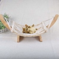 Soft Flock Cat chair Tree Hammock Bed