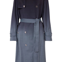 Sonia Rykiel - Checked ombré wool trench coat