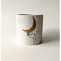 """Give You The Moon"" Concrete Planter"