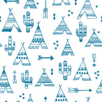 TeePee City Removable Wallpaper Decal