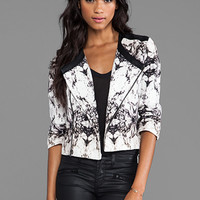 krisa Printed Canvas Little Jacket in Marais from REVOLVEclothing.com