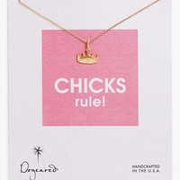 Dogeared 'Reminder - Chicks Rule' Boxed Pendant Necklace   Nordstrom