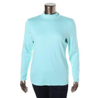 Karen Scott Womens Mock Turtleneck Long Sleeves Pullover Top