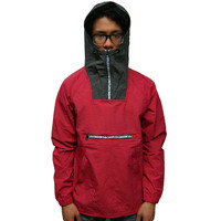 Mens Anorak Powder In True Red