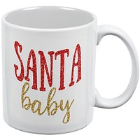 Christmas Santa Baby All Over Coffee Mug