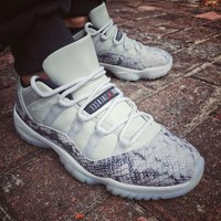 "Air Jordan 11 Low Snakeskin ""Light Bone"" CD6846-002 - Best Deal Online"