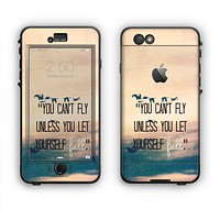 The Pastel Sunset You Cant Fly Unless You Let Yourself Fall Apple iPhone 6 LifeProof Nuud Case Skin Set