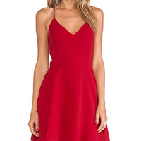 Line & Dot Blonde Ambition Mini Dress in Red