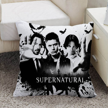 supernatural Pillow case size 16 x 16, 18 x 18, 16 x 24, 20 x 30, 20 x 26 One side and Two side