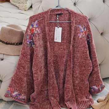 Flora Valley Sweater in Mauve