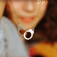 handcuffs clavicular chain necklace jewelry for her him beautiful surprise gift 44