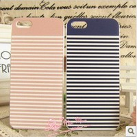 navy stripe decoration case for iphone4/4s/5