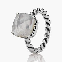Women's PANDORA 'Sincerity' Mother-of-Pearl Ring - Silver/ Pearl